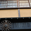 """House with Wagon Wheel.<br /> In Takayama's """"Little Kyoto"""" area."""
