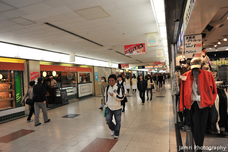 Underground Osaka.<br /> If there's one thing about Osaka is there's plenty of underground shopping centres! I've even figured out how to navigate them now, without a ball of string!