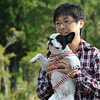 A photo with the dog.<br /> At Lake Tanuki, Shizuoka Prefecture, Japan.