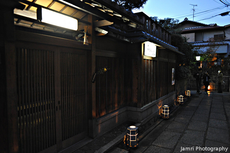 Gateways to villas.<br /> Some of these old Kyoto villas have been turned into shops, restaurants or ryokans (traditional inns).