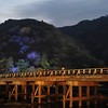 At Togetsukyo (the moon crossing bridge) in Arashiyama.