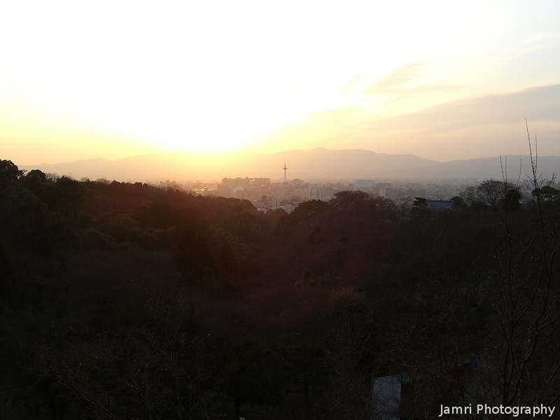 Kyoto Sunset.<br /> From Kiyomizu-dera.