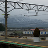 A bit of Snow on the Mountains.<br /> From Adogawa Station.