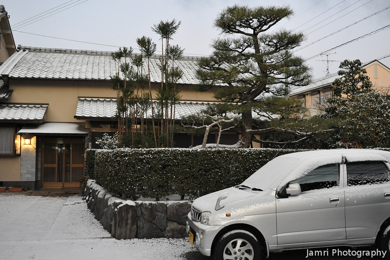 Japanese House after the Snow.