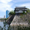 Old and New Buildings.<br /> At Osaka Castle Park.