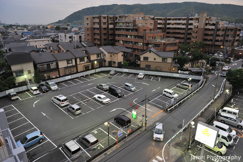 "A view of the Coop car park.<br /> From ""Fune Mansion""."