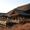 The Main Building of Kiyomizu Temple at Golden Hour.