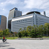 "From L to R ""Osaka History Museum"", ""NHK Osaka Studios"", ""Osaka Police HQ"". These building are all near Osaka Castle."