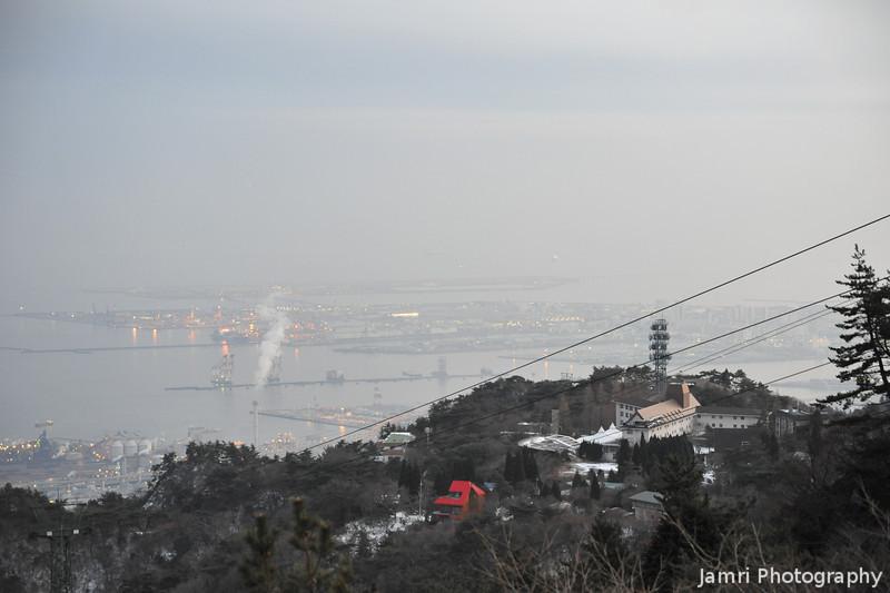 Towards Kobe City.<br /> From Mt. Rokko.