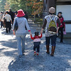 Entering the Palace<br /> Ritsuko, our friend Chiyo and her daughter Ruth going through the gate of the Kyoto Imperial Palace.