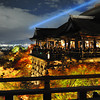 A bit of a lower angle.<br /> Of the main building at Kiyomizu-dera (Kiyomizu Temple).