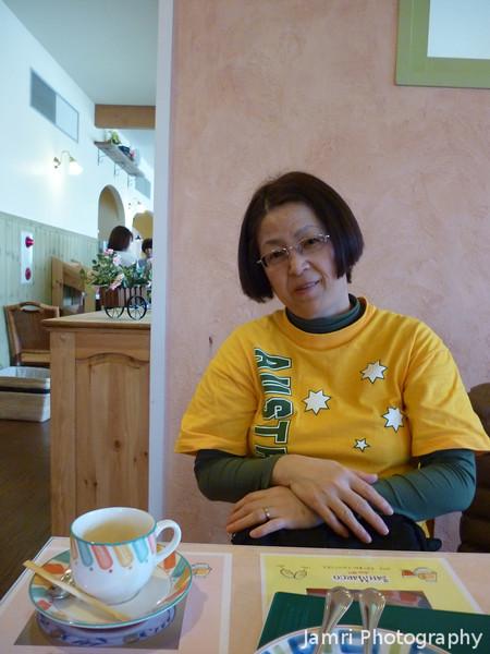Ritsuko at San Marco in Nagaokakyo.