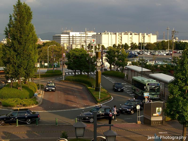 Towards the Panasonic Office.<br /> Looking South East from JR Nagaokakyo Station.
