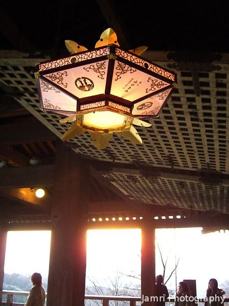 Ornamental Lampshade.<br /> In Kiyomizu-dera (Kiyomizu Temple), Higashiyama, Kyoto.