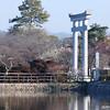 Towards the Big Torii.<br /> The Big Torii (Gate) marks the entrance to the outer part of Nagaoka Tenmangu Shrine.