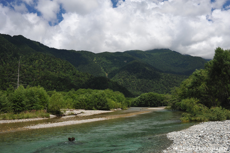 Upriver.<br /> At Kamikochi National Park, Nagano Prefecture, Japan.