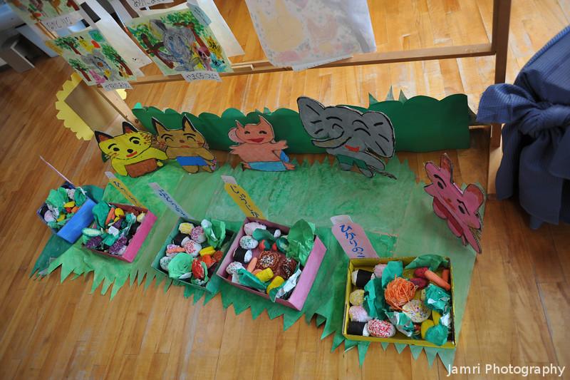 Happy little creatures.<br /> At Megumi Kindergarten's 50th Annual Kaigaten (Art Exhibition).
