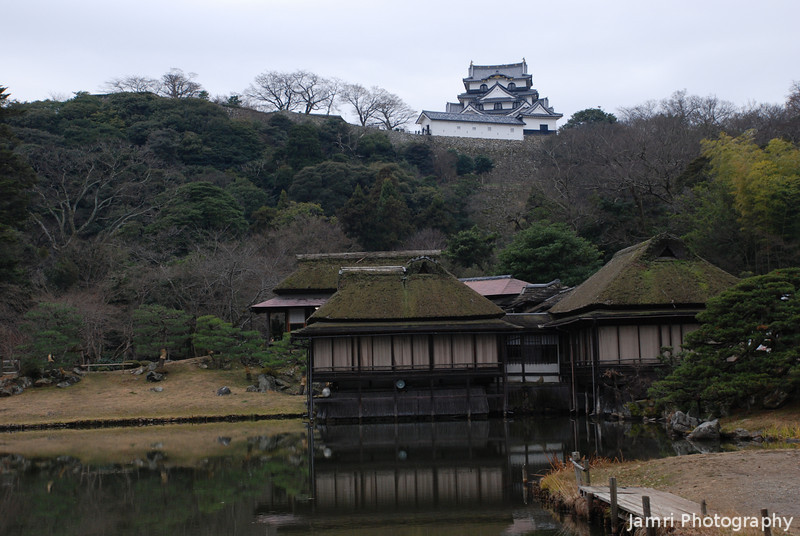 Borrowed Scenery.<br /> Hikone Castle is part of the borrowed scenery in this Japanese Garden.