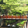 Crossing a Bridge.<br /> In Kibune, Kyoto.<br /> Note: Circular Polarising Filter Used.