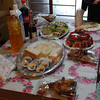 Christmas Lunch.<br /> Four friends (teachers from the Kindergarten where I teach English) came over for Christmas lunch with us. We ate a mix of Japanese and Western food. Christmas is not a public holiday here, but it is in the middle of the winter school holidays so the teachers were free for lunch.