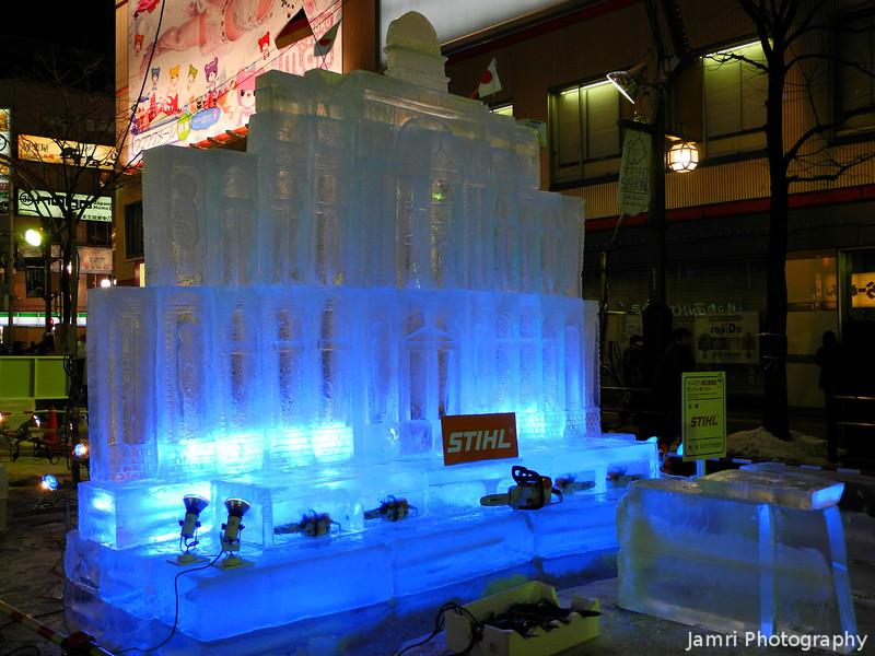 Stihl Chainsaws Ice Sculpture.