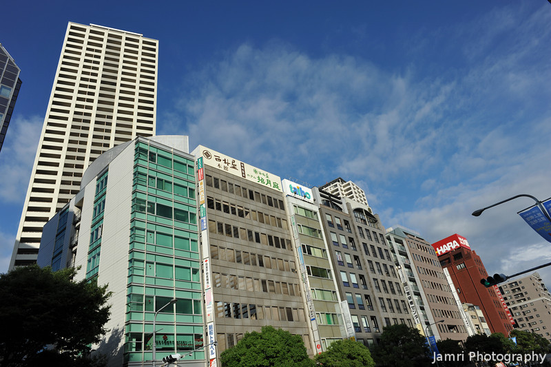 City Buildings.<br /> Along Flower Road, in Kobe.
