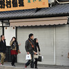 """Lots of People, but the shops have closed.<br /> Some times I wonder if these shops are really out to make money. They only open from like 11:00-16:30. Yet there's plenty of people around in Arashiyama at other times. I remember one day finishing a early morning photo shoot around 08:00 (once the light got too white to get good colours) and saying to my friends """"lets go for a coffee"""", only to find that no cafe opened in Arashiyama until at least 10:00, most 11:00, what are these people thinking, losing out on a lot of business IMHO. And it wasn't like me and my friends were the only people out shooting from early morning, there was 100s of people and not a cafe open in sight!"""
