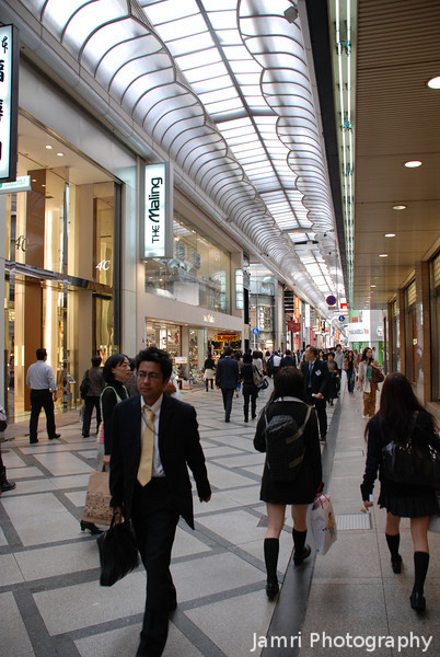 A Quiet Day at the Mall.<br /> Shinsaibashi, Osaka.