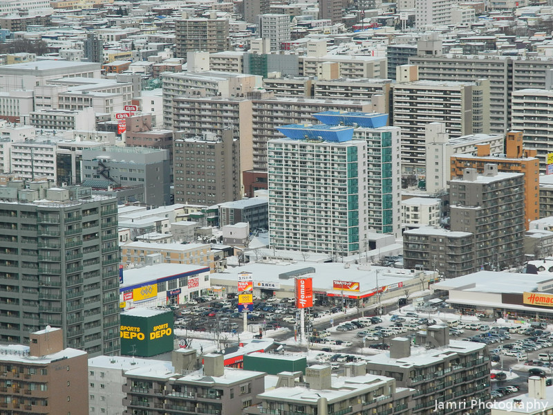 Colours of the City.<br /> From the JR Building in Sapporo.