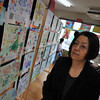 Ritsuko at the Kaigaten.<br /> The 50th Annual Kaigaten (Art Exhibition) at Megumi Kindergarten.