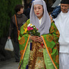 A Nun from those times?<br /> Since this parade celebrates one of Nagaokakyo first Christians, I wonder if this lady is meant to represent a Nun who lady Garasha (Gracia) knew?