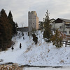Snow Village.<br /> A shopping complex on Mt. Rokko with a European Castle style lookup.