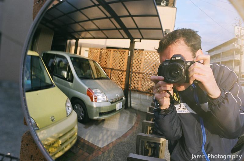 Morning's Walk Self Portrait.<br /> While taking a walk in the morning.<br /> Note Film Shot: Nikon F80 + Nikkor AF 35 f/2 + Fujicolor PRO400