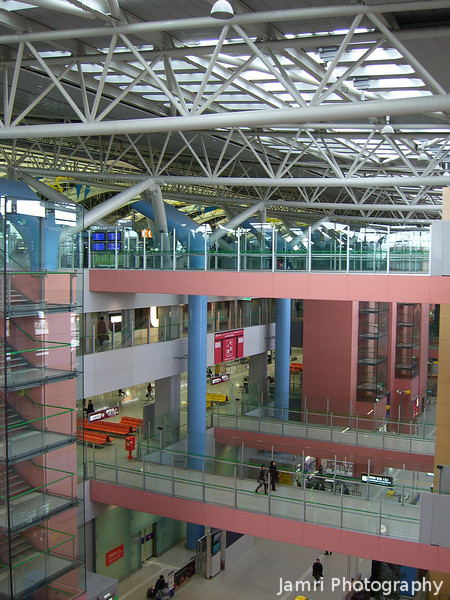Looking Down from the Top Floor.<br /> At Kansai Airport.