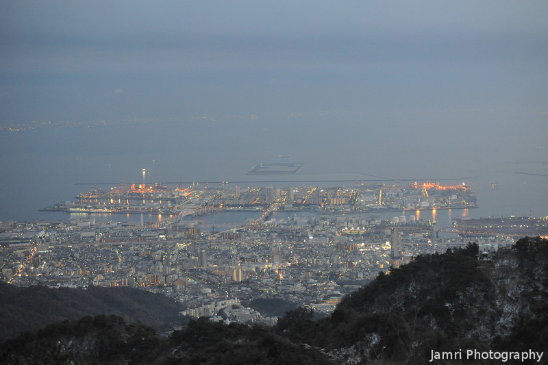 Toward Rokko Island at Dusk.