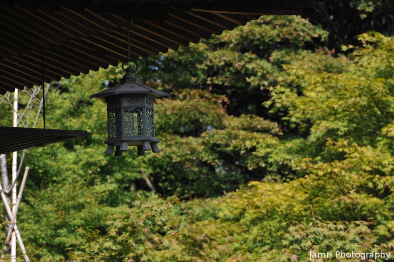 Lantern.<br /> At Okochi Sanso, Arashiyama, Kyoto, Japan.