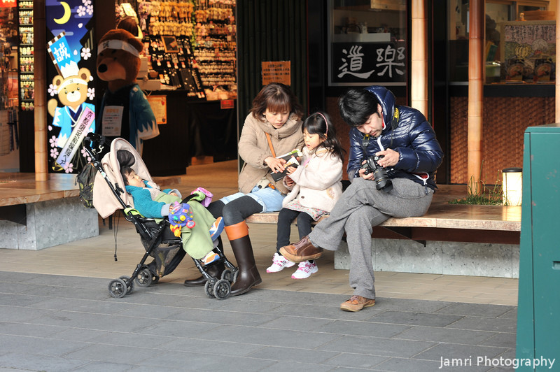 A bit of family time.<br /> In Arashiyama, Kyoto.
