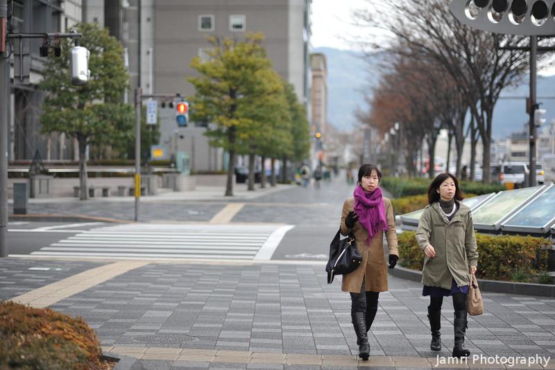 Two Ladies Walking.