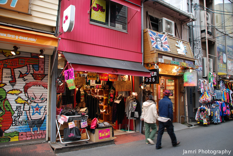 "Walking the cool streets.<br /> Japan's version of America aka ""Amerika mura"" in Minami, Osaka."