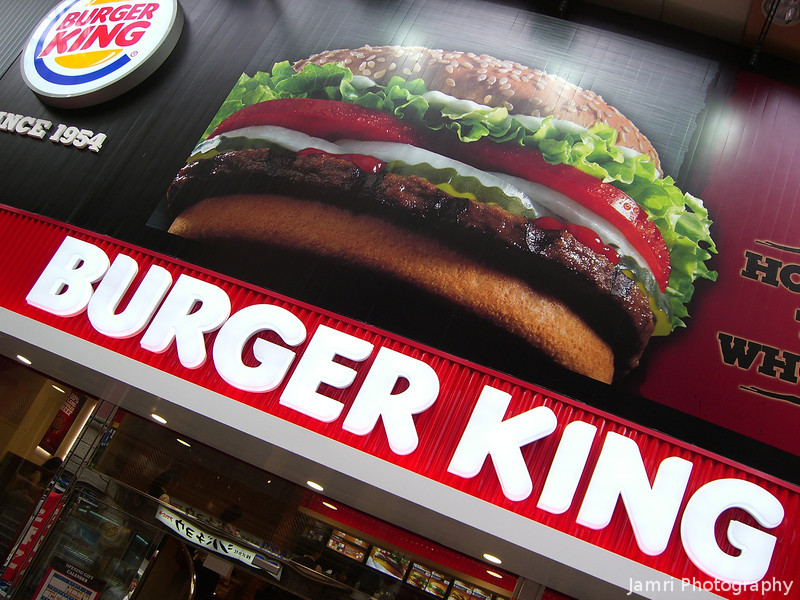 Burger King, Nanba, Osaka.<br /> It might have started in 1954, but it only came to Kansai in July 2011.