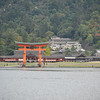 Towards Itsukushima Shrine.<br /> From the ferry going to Miyajima Island.