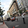 Directing Traffic.<br /> Leaving the Takashimaya Car Park.
