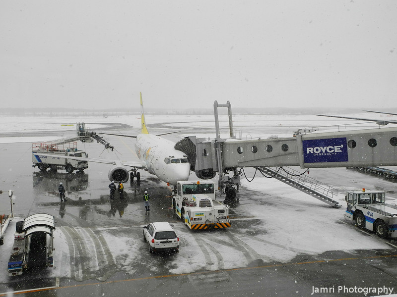 Snowy Airport.<br /> Sapporo's New Chitose Airport.