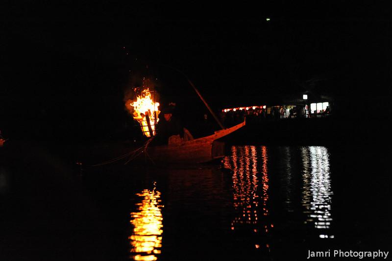 Ukai (Cormorant Fishing) Boat Aprroaching