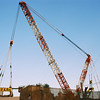 Crane in Morning Light.<br /> According to our local Newspaper, this is the biggest crane in Japan, it took eight trucks to get it here. It's working on the new expressway.<br /> Note Film Shot: Nikon F80 + 70-300VR lens + 2 years expired Centuria 100 DNP (probably made by Kodak since made in USA and same process code: C-41)