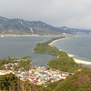 Amohashidate town catching some sunlight.