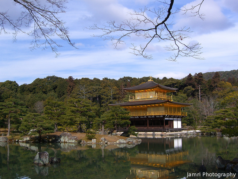 Across the Pond.<br /> Kinkaku-ji (the Temple of the Golden Pavilion) one of Kyoto's (and Japan's) most famous sites.