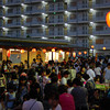 At the Summer Festival (Natsu Matsuri).<br /> The crowd at the summer festival put on by our local Kyoto Coop store.
