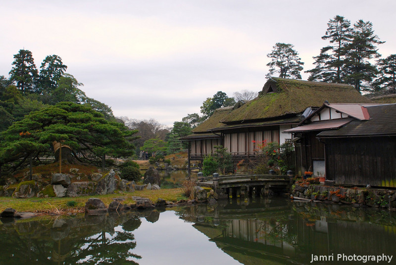 In the Garden Next to the Castle.<br /> In Hikone Shiga Prefecture.