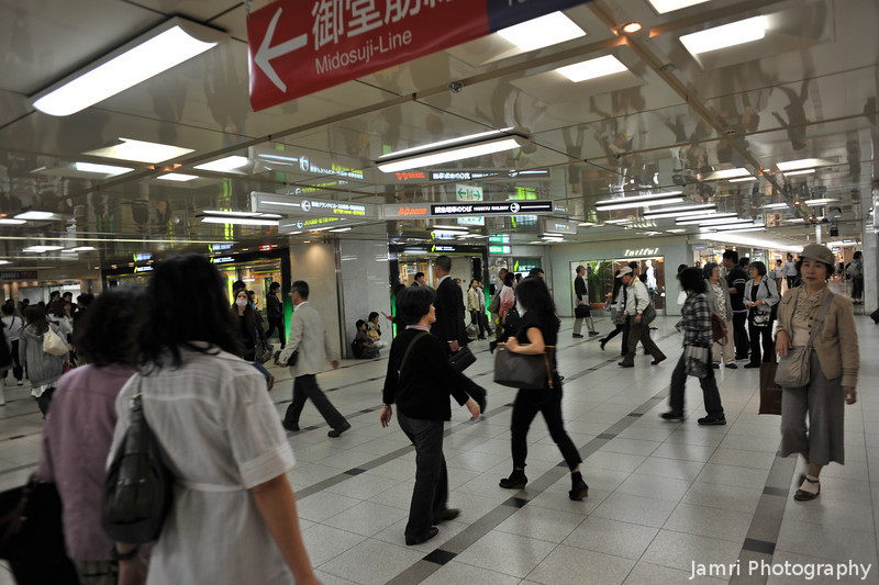 In the Osaka Underground.<br /> Between Hankyu Umeda Station and the Subway Station there is a maze of underground passages, but I'm now getting much better at navigating them.